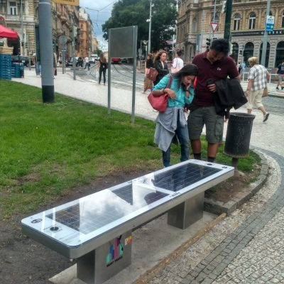 Solar Smart Bench sCITYpro in Prague