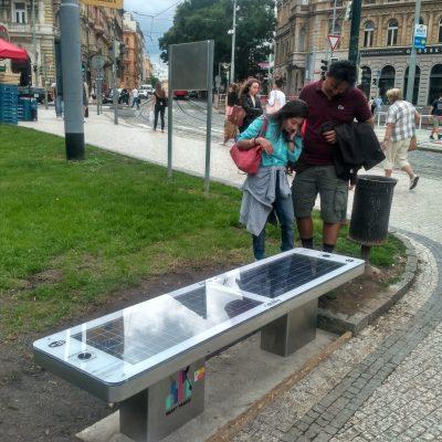 Solar Smart Bench sCITYpro in Prague